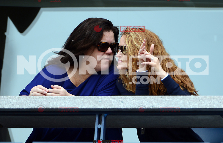 FLUSHING NY- SEPTEMBER 2: Rosie O'Donnell and Michelle Rounds watching Andy Roddick Vs Fabio Fognini on Arthur Ashe stadium at the USTA Billie Jean King National Tennis Center on September 2, 2012 in in Flushing Queens. Credit: mpi04/MediaPunch Inc. ***NO NY NEWSPAPERS*** /NortePhoto.com<br /> <br /> **CREDITO*OBLIGATORIO** <br /> *No*Venta*A*Terceros*<br /> *No*Sale*So*third*<br /> *** No*Se*Permite*Hacer*Archivo**<br /> *No*Sale*So*third*