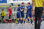 Mannheim, Germany, January 12: During the 1. Bundesliga men indoor hockey match between Mannheimer HC and SC Frankfurt 1880 on January 12, 2020 at Irma-Roechling-Halle, Am Neckarkanal in Mannheim, Germany. Final score 6-5. (Photo by Dirk Markgraf / www.265-images.com) ***