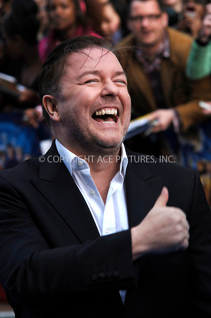 """WWW.ACEPIXS.COM . . . . .  ..... . . . . US SALES ONLY . . . . .....May 12 2009, London....Actor Ricky Gervais at the World Premiere of """"Night At The Museum 2"""" held at the Empire Leicester Square on May 12 2009 in London ....Please byline: FAMOUS-ACE PICTURES... . . . .  ....Ace Pictures, Inc:  ..tel: (212) 243 8787 or (646) 769 0430..e-mail: info@acepixs.com..web: http://www.acepixs.com"""
