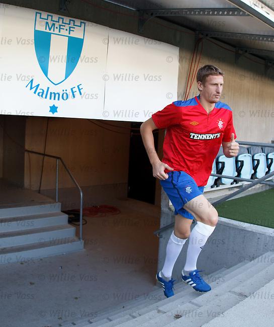 Dorin Goian arrives for training at Malmo's Swedbank Stadium