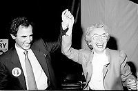 "Montreal (QC) Canada- -July 31 1984  File Photo -  William Dery (L) and<br /> Sheila Finestone (R) choosen as liberal candiate for the  riding of Mount Royal over William Dery (L)... In 1984 she was elected as a Liberal Member of Parliament for the Montreal riding of Mount Royal. She was re-elected in the 1988, 1993 and 1997 elections.<br /> <br /> Finestone was sworn to the Privy Council in November 1993 as Secretary of State (Multiculturalism and Status of Women). Finestone was appointed to the Senate of Canada in August 1999. She completed her term in the Senate in 2002 when she reached the mandatory retirement age of 75.<br /> <br /> She was a member of the board of the Canadian Landmine Foundation.<br /> <br /> In 2008, Finestone was the recipient of the Distinguished Service Award of the Canadian Association of Former Parliamentarians,[2] ""presented annually to a former parliamentarian who has made an outstanding contribution to the country and its democratic institutions.""[3] The award was accepted on her behalf by her son Peter, due to Finestone's inability to attend, following health challenges.[4]"