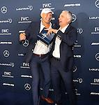 12.11.2014, Hyatt, Berlin, GER, Berlin, Laureus, Medien Preis 2014, im Bild Axel Schul mit Michael Teuber (RTL)<br /> <br />               <br /> Foto &copy; nordphoto /  Engler