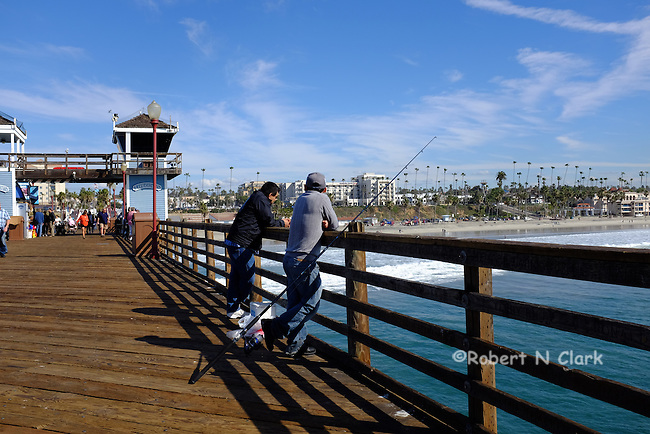 The pier in Oceanside California on a summer morning