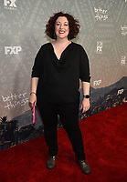 "SANTA MONICA - FEBRUARY 26: Rebecca Metz arrives at the red carpet event for FX's ""Better Things"" Season Three Premiere at the The Eli and Edythe Broad Stage on February 26, 2019 in Santa Monica, California. (Photo by Frank Micelotta/FX/PictureGroup)"