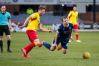 8th February 2020; Dens Park, Dundee, Scotland; Scottish Championship Football, Dundee versus Partick Thistle; Paul McGowan of Dundee is fouled by Darren Brownlie of Partick Thistle
