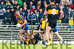 Dr Crokes in action against Flor O'Sullivan Kenmare District in the Senior County Football Championship final at Fitzgerald Stadium on Sunday.