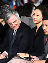 April 19, 2017, Tokyo, Japan - French fashion giant Dior CEO Sidney Toledano (L) smiles with Japanese actress Nanako Matsushima as they enjoy Dior's 2017 spring-summer haute couture collection at the rooftop of the Ginza Six in Tokyo on Wednesday, April 19, 2017. Tokyo's new landmark Ginza Six will open on April 20 where Dior will have its flagship store.     (Photo by Yoshio Tsunoda/AFLO) LwX -ytd-