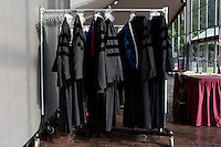 Robes hang on a rack for faculty before the 2012 MIT Commencement on June 8, 2012, in Cambridge, Massachusetts, USA...Photo by M. Scott Brauer