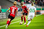 01.05.2019, RheinEnergie Stadion , Köln, GER, DFB Pokalfinale der Frauen, VfL Wolfsburg vs SC Freiburg, DFB REGULATIONS PROHIBIT ANY USE OF PHOTOGRAPHS AS IMAGE SEQUENCES AND/OR QUASI-VIDEO<br /> <br /> im Bild | picture shows:<br /> Sandra Starke (SC Freiburg Frauen #13) am Ball, <br /> <br /> Foto © nordphoto / Rauch