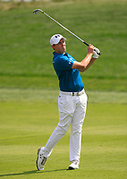 Matthew Fitzpatrick (ENG) on the 1st fairway during Round 1 of the D+D Real Czech Masters at the Albatross Golf Resort, Prague, Czech Rep. 31/08/2017<br /> Picture: Golffile | Thos Caffrey<br /> <br /> <br /> All photo usage must carry mandatory copyright credit     (&copy; Golffile | Thos Caffrey)