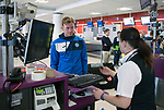 FK Trakai v St Johnstone&hellip;05.07.17&hellip; Europa League 1st Qualifying Round 2nd Leg<br />St Johnstone midfielder Liam Craig checks in for the flight to Vilnius in Lithuania at Edinburgh Airport<br />Picture by Graeme Hart.<br />Copyright Perthshire Picture Agency<br />Tel: 01738 623350  Mobile: 07990 594431