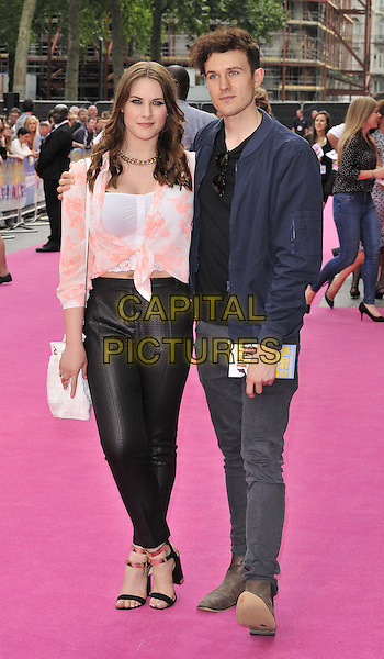 LONDON, ENGLAND - JUNE 11: Kat Shoob &amp; guest attend the &quot;Walking On Sunshine&quot; world film premiere, Vue West End cinema, Leicester Square, on Wednesday June 11, 2014 in London, England, UK.<br /> CAP/CAN<br /> &copy;Can Nguyen/Capital Pictures