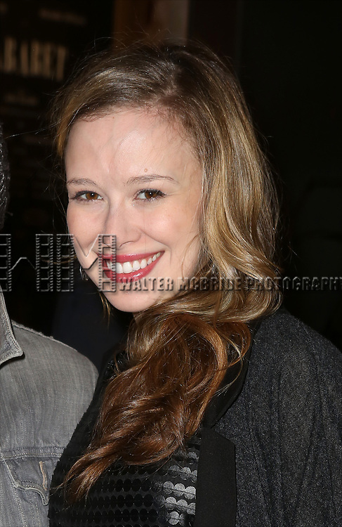 Molly Ranson attending the Broadway Opening Night Performance of 'Cabaret' at Studio 54 on April 24, 2014 in New York City.