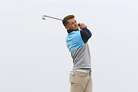 Matty Lamb (ENG) on the 1st tee during Round 1of the Flogas Irish Amateur Open Championship 2019 at the Co.Sligo Golf Club, Rosses Point, Sligo, Ireland. 16/05/19<br /> <br /> Picture: Thos Caffrey / Golffile<br /> <br /> All photos usage must carry mandatory copyright credit (© Golffile | Thos Caffrey)