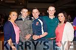Emily Lyod(Abbeyfeale), Dan Doherty(Templeglantine), Christopher Kelliher(Abbeyfeale), Eric O'Sullivan (Abbeyfeale) and Shauna Kelliher(Kilmorna) pictured at the Kick Boxing fight night in The Devon Inn, Templeglantine last Saturday night.