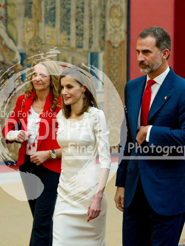 Princess Elena, Queen of Spain Letizia and King of Spain Felipe