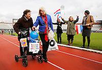 Rollatorloop in het Olympisch Stadion