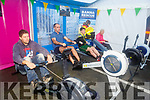 Brenda Doody (Curraheen), Tom Flynn, Padraig McCannon and Thomas Fitzgerald rowing for the the Banna Sea Rescue and Kerry Mountain Rescue fundraiser in Nolans Garage on Saturday.