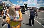 Batonbearer Debra Szendrey passing the Baton to her husband Steven as the Queen's Baton Relay visited Ayr. In the host state of Queensland the Queen's Baton will visit 83 communities from Saturday 3 March to Wednesday 4 April 2018. As the Queen's Baton Relay travels the length and breadth of Australia, it will not just pass through, but spend quality time in each community it visits, calling into hundreds of local schools and community celebrations in every state and territory. The Gold Coast 2018 Commonwealth Games (GC2018) Queen's Baton Relay is the longest and most accessible in history, travelling through the Commonwealth for 388 days and 230,000 kilometres. After spending 100 days being carried by approximately 3,800 batonbearers in Australia, the Queen's Baton journey will finish at the GC2018 Opening Ceremony on the Gold Coast on 4 April 2018.