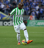 BOGOTA- COLOMBIA -04 -02-2014: John Valoy jugador de Atletico Nacional durante partido de la cuarta fecha de la Liga Postobon I 2014, jugado en el Nemesio Camacho El Campin de la ciudad de Bogota. / John Valoy player of Atletico Nacional a goal scored during a match for the fourth date of the Liga Postobon I 2014 at the Nemesio Camacho El Campin Stadium in Bogoto city. Photo: VizzorImage  / Luis Ramirez / Staff