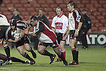 Chris Elvin & Simon Lemalu break from a ruck during the Air NZ Cup week 5 game between Waikato & Counties Manukau played at Rugby Park, Hamilton on 26th of August 2006.