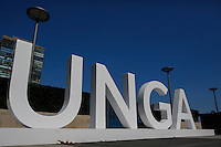 NEW YORK, USA - SEPT 14,  A sign is seen at the United Nations Headquarters during preparations for the 71st General Assembly in New York on September 14, 2016. photo by VIEWpress