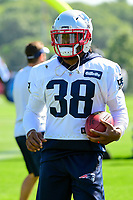 July 28, 2017: New England Patriots running back Brandon Bolden (38) takes part in the New England Patriots training camp held at Gillette Stadium, in Foxborough, Massachusetts. Eric Canha/CSM