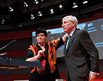 Berlin-Germany - May 23, 2014 -- International Trade Union Confederation - 3rd ITUC World Congress 'Building Workers' Power'; here, Sharan Burrow (le), ITUC-General Secretary, with Michael Sommer (ri), outgoing ITUC-President -- Photo: © HorstWagner.eu / ITUC
