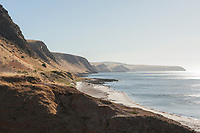 Looking Southwest along the coast of the Fleurieu Peninsula towards Wirrina Cove and Second Valley, in the late afternoon light.