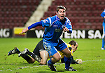 Hearts v St Johnstone....11.01.11  Scottish Cup.Peter MacDonald celebrates his goal.Picture by Graeme Hart..Copyright Perthshire Picture Agency.Tel: 01738 623350  Mobile: 07990 594431