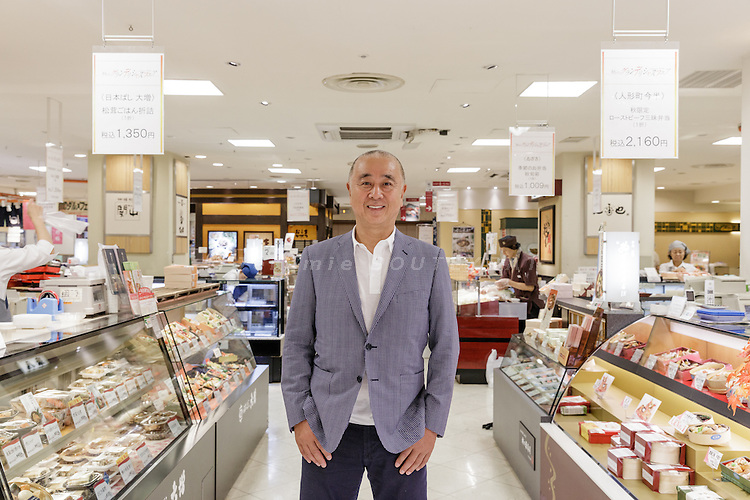 Tokyo, Japan, September 20 2016 - Portrait of  Japanese chef and restaurateur Nobu MATSUHISA at Takashimaya Nihonbashi department store.