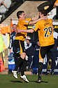 Liam Hughes of Cambridge United celebrates after scoring the opening goal with James Jennings during the Blue Square Bet Premier match between Cambridge United and York City at the Abbey Stadium, Cambridge on 19th March, 2011.© Kevin Coleman 2011
