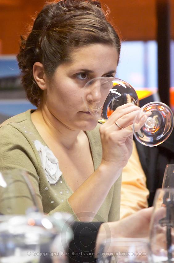 Ana Viola, director and daughter of Julio Viola the owner Bodega Del Fin Del Mundo - The End of the World - Neuquen, Patagonia, Argentina, South America
