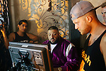 "On the set of DJ Khaled's ""No New Friends"" video with Lil Wayne, Rick Ross, and Drake directed by Collin Tilley at Chateau Artisan outside of Miami, Florida, May 15, 2013."