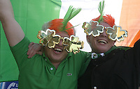 17/03/2011.Mikkel Kjaer & Dennis Bay Winther from Jutland Denmark.during the St. Patrick's Day festival in Dublin's City Centre..Photo: Gareth Chaney Collins