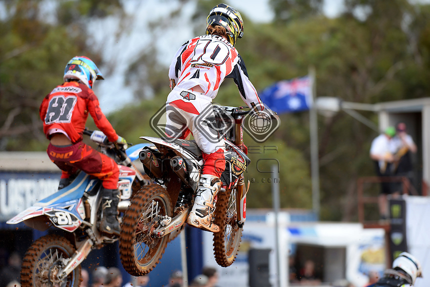 Josh Cachia / Honda<br /> MXN Round 4 - Murray Bridge / MX2<br /> 2014 Monster Energy MX Nationals<br /> Australian Motocross Championship<br /> Murray Bridge SA 18 May 2014<br /> &copy; Sport the library / Jeff Crow