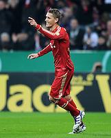 Fussball DFB Pokal:  Saison   2011/2012  2. Runde  26.10.2011 FC Bayern Muenchen - FC Ingolstadt 04 Jubel nach dem Tor zum 3:0  Nils Petersen (FC Bayern Muenchen)