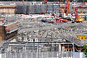 A general view of the New National Stadium under construction on July 15, 2017 in Shinjuku-ku Tokyo, Japan.<br /> (Photo by Hiroyuki Ozawa/AFLO)