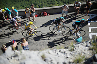 Chris Froome (GBR/SKY) up the Lacets du Grand Colombier (Cat1/891m/8.4km/7.6%)<br /> <br /> stage 15: Bourg-en-Bresse to Culoz (160km)<br /> 103rd Tour de France 2016