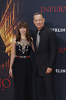Felicity Jones and Tom Hanks attending the &quot;Inferno&quot; premiere held at CineStar, Sony Center, Potsdamer Platz, Berlin, Germany, 10.10.2016. <br /> Photo by Christopher Tamcke/insight media /MediaPunch ***FOR USA ONLY***