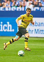 SOKRATIS, 25 BVB   <br /> FC SCHALKE 04 -  BORUSSIA DORTMUND 2-0<br /> Football 1. Bundesliga , Gelsenkirchen,15.04.2018, 30. match day,  2017/2018 1.Bundesliga, BVB, S04, <br />  *** Local Caption *** © pixathlon<br /> Contact: +49-40-22 63 02 60 , info@pixathlon.de