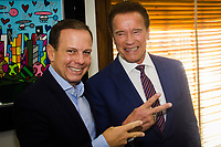 SÃO PAULO, SP - 24.04.2017: DORIA-SP - O prefeito de São Paulo João Dória Jr durante encontro com o ator Arnold Schwarzenegger, na sede da Prefeitura de São Paulo na região central da cidade nesta segunda-feira, 24. (Foto: Danilo Fernandes/Brazil Photo Press)