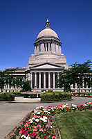 Architecture of the State Capital building in Pacific Northwest city of Olympia, Washinton, USA