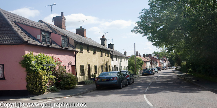 Village of Mendlesham, Suffolk, England