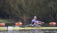 Caversham. Berkshire. UK<br /> Sam TWINE.<br /> 2016 GBRowing U23 Trials at the GBRowing Training base near Reading, Berkshire.<br /> <br /> Monday  11/04/2016 <br /> <br /> [Mandatory Credit; Peter SPURRIER/Intersport-images]