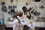 COLLEGE STATION, TX - MARCH 11: Lindon Victor of Texas A&M competes in the pole vault section of the Heptathlon during the Division I Men's and Women's Indoor Track & Field Championship held at the Gilliam Indoor Track Stadium on the Texas A&M University campus on March 11, 2017 in College Station, Texas. (Photo by Michael Starghill/NCAA Photos/NCAA Photos via Getty Images)