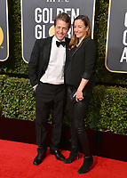 Hugh Grant &amp; Anna Eberstein at the 75th Annual Golden Globe Awards at the Beverly Hilton Hotel, Beverly Hills, USA 07 Jan. 2018<br /> Picture: Paul Smith/Featureflash/SilverHub 0208 004 5359 sales@silverhubmedia.com