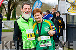 Timmie Phelan and his wife Monica Phelan  runners at the Kerry's Eye Tralee, Tralee International Marathon and Half Marathon on Saturday.