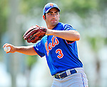 10 March 2012: New York Mets infielder Josh Satin warms up prior to a Spring Training game against the Washington Nationals at Space Coast Stadium in Viera, Florida. The Nationals defeated the Mets 8-2 in Grapefruit League play. Mandatory Credit: Ed Wolfstein Photo