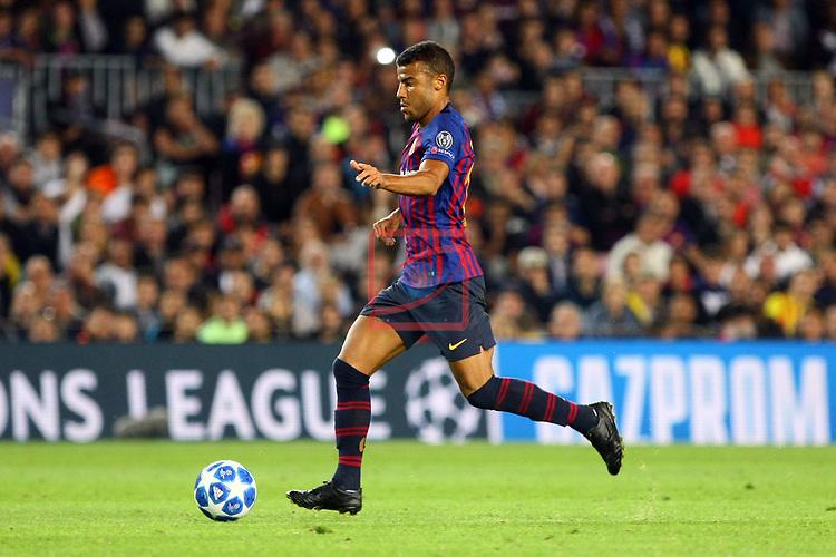 UEFA Champions League 2018/2019 - Matchday 3.<br /> FC Barcelona vs FC Internazionale Milano: 2-0.<br /> Rafinha.